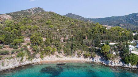 wild beach in Palio village. Kavala, Greece