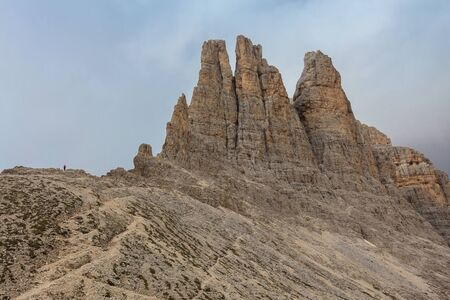 Vajolet Towers in Dolomites. Val di Fassa, Italy