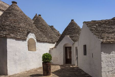 typical historical house of Alberobello's town. Italy
