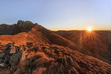 mountain landscape in the Fagaras Mountains, Romania