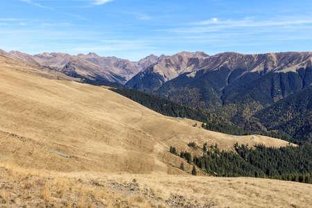 mountain landscape in The Fagaras Mountains, Romania Stock Photo