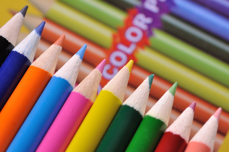 writing instruments: Color space Stock Photo