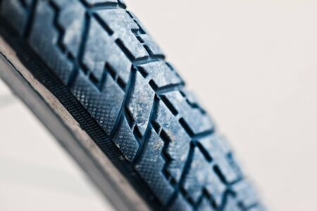 a used Bike tire over white background Stock Photo - 18177780