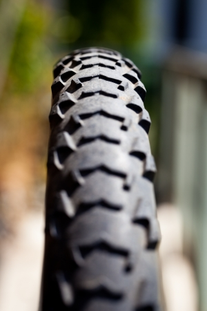 Close up of a bike tire Stock Photo - 18199104