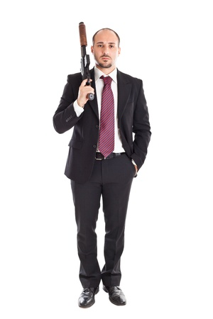 mobster: Armed Mobster or businessman with shotgun