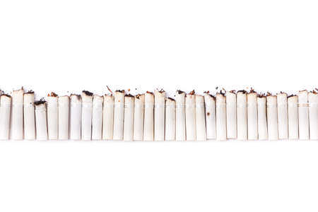 trashy: A line made of cigarette filters