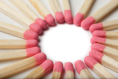 some red matches forming a circle Stock Photo - 19083339