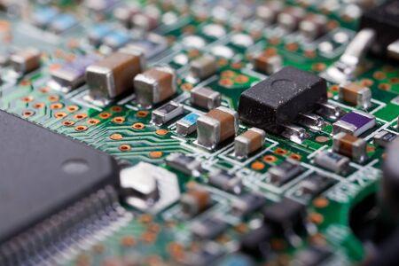 Macro shot of a dirty circuit board Stock Photo - 19083373