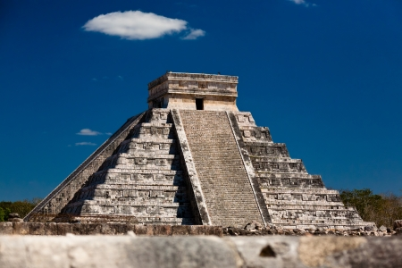 a Ziggurat in Chichen Itza, Yucatan, Mexico Stock Photo