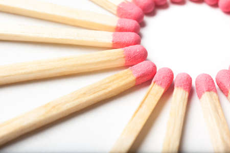 some red matches forming a circle Stock Photo - 19399045