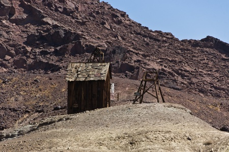 Wild West Shack in a ghost town photo