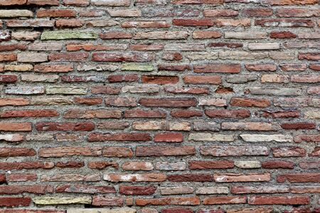 An ancient roman brick wall Stock Photo