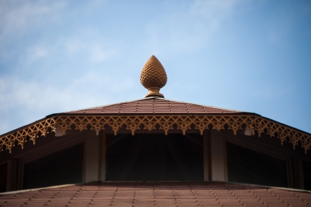 detail of an indian roof top over a blue sky Stock Photo - 19398434