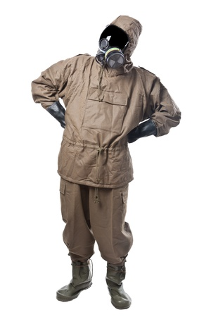 A man wearing an NBC Suite (Nuclear - Biological - Chemical) Stock Photo - 19563661