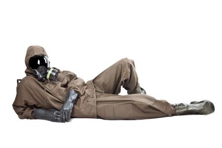 Un hombre con una suite NBC (Nuclear - Biol?gico - Qu?mico)