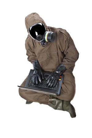 A man wearing an NBC Suite (Nuclear - Biological - Chemical) Stock Photo - 19563660
