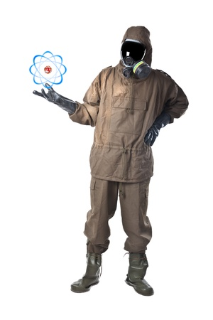 A man wearing an NBC Suite (Nuclear - Biological - Chemical) Stock Photo - 19563649