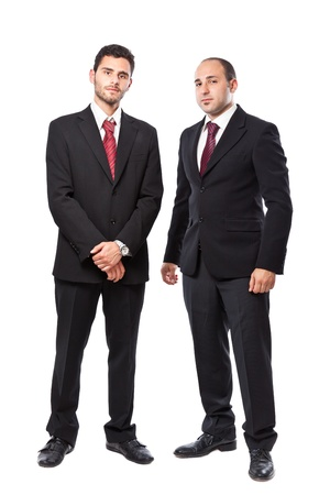 businessman standing: Two Businessman standing on a white background