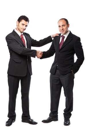 Two Businessman standing on a white background  Stock Photo - 20327070