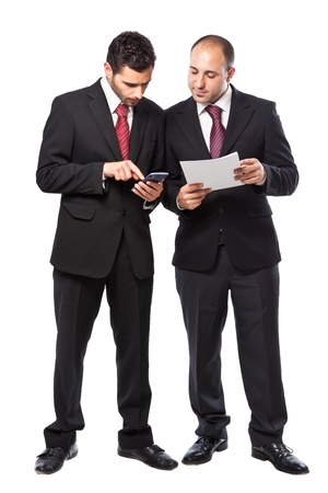 Two Businessman standing on a white background Stock Photo - 20327075