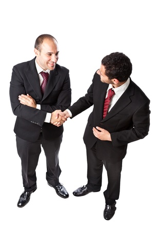 Two Businessman standing on a white background Stock Photo - 20335198