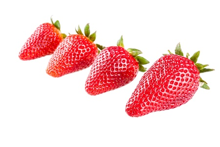 Studio shot of ripe and vibrant strawberries Stock Photo - 20386626