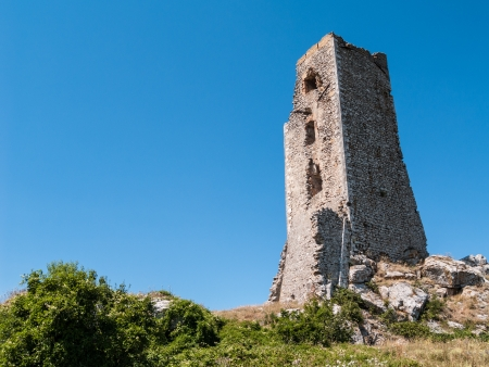an ancient medieval tower located in Forca di Penne, Abruzzo, Italy photo
