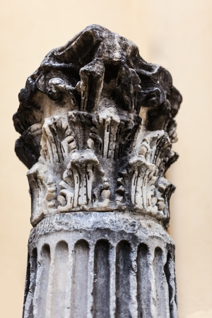 an ancient classical column ruined by time and weather Stock Photo - 20564530