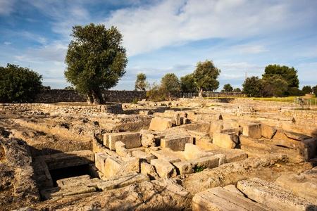 ruins of an ancient italian city named Egnazia (Gnatia in english) Banco de Imagens