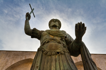 The Colossus of Barletta, a large bronze statue of an Eastern Roman Emperor Stock Photo - 20564315