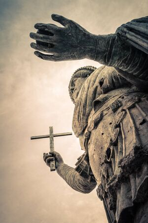 ecclesiastical: The Colossus of Barletta, a large bronze statue of an Eastern Roman Emperor Stock Photo