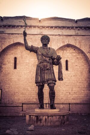 The Colossus of Barletta, a large bronze statue of an Eastern Roman Emperor Stock Photo - 20564332