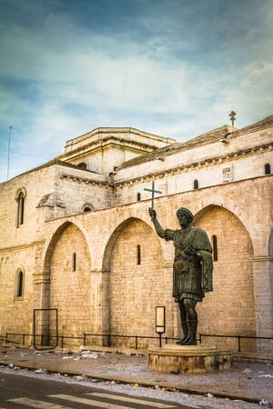 The Colossus of Barletta, a large bronze statue of an Eastern Roman Emperor Stock Photo - 20564376