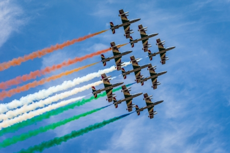 The italian acrobatic jet squad named