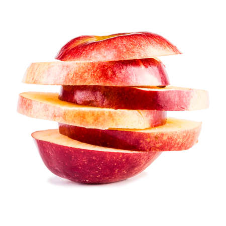 coherent: a sliced apple isolated over a white background