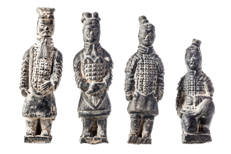 imperialism: the famous xian clay warriors isolated over a white background