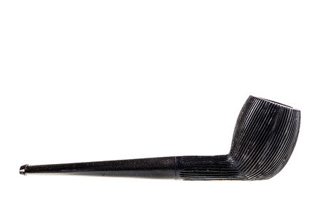 an old tobacco pipe isolated over a white background Stock Photo - 23394007