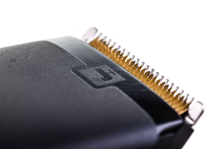 macro shot of a hair clipper head isolated over a white background Stock Photo - 23394040