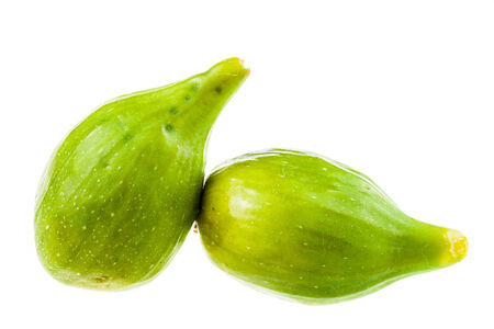 ripe green figs isolated over a white background Stock Photo - 23394045