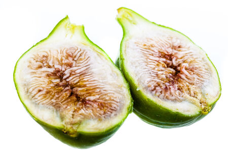 ripe green figs isolated over a white background Stock Photo - 23394044