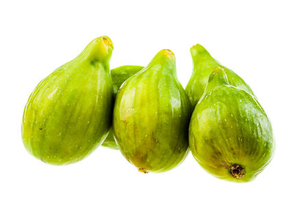 ripe green figs isolated over a white background Stock Photo - 23394050