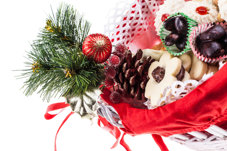 some delicious christmas pastries isolated over a white background Stock Photo