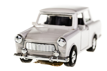 russian car: an old russian car model isolated over a white background Stock Photo