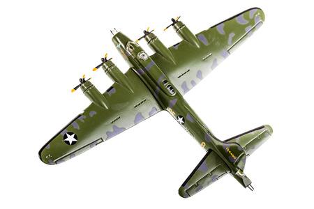 model bomber plane isolated over a white  Banco de Imagens