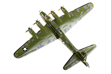 model bomber plane isolated over a white  Stock Photo