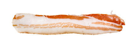 uncooked bacon: a delicious bacon slice isolated
