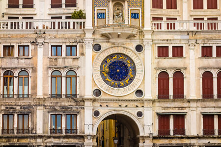 clock of the moors: The Clock Tower in San Marcos square, Venice, Italy.