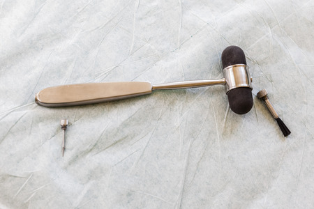 A reflex hammer is a medical instrument used by physicians to test deep tendon reflexes