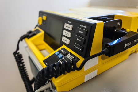 tachyarrythmia: Manual external defibrillators are used in conjunction with electrocardiogram readers, which are used to diagnose a cardiac condition Editorial