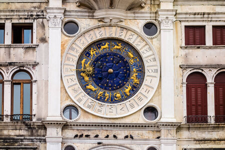 The Clock Tower in San Marcos square, Venice, Italy. photo